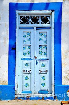 Door in Volada, Karpathos, Greece