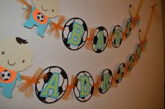 Soccer Banner for baby shower/Birthday party by CCreativeMind