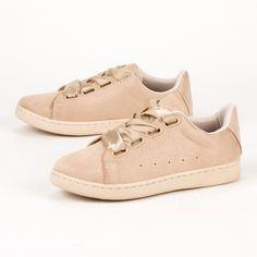 Sneakers με σατέν κορδόνια