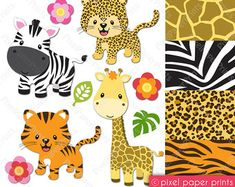 Wild & Classic Set de papeles digitales por pixelpaperprints
