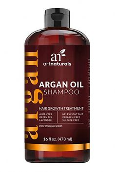 """11 Shampoos for Hair Growth - Best Shampoo for Longer Hair a great pick for anyone who wants to reduce the impact of thinning hair and encourage new hair growth to occur. """"Art Naturals' argan oil shampoo contains DHT blockers, which work to prevent damage Natural Hair Loss Treatment, Hair Growth Treatment, Hair Treatments, Natural Treatments, Hair Growth Shampoo, Hair Shampoo, Argan Shampoo, Best Hair Loss Shampoo, Smoothies"""