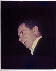 Jack Gould, Untitled (close-up view of Richard Nixon's face seen from below), c. 1960 | Harvard Art Museums/ Fogg Museum