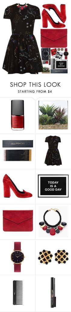 """#95"" by darina-kozlova ❤ liked on Polyvore featuring NARS Cosmetics, Fujifilm, Lux-Art Silks, Sloane Stationery, Valentino, Dolce&Gabbana, Chico's, Abbott Lyon, Chanel and Sephora Collection"