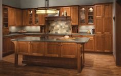One of many design ideas for your kitchen from KraftMaid Cabinets, available at Zeeland Lumber & Supply.