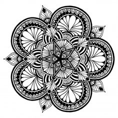 Discover thousands of Premium vectors available in AI and EPS formats Mandala Coloring Pages, Adult Coloring Pages, Coloring Books, Mandala Design, Mandala Art, Grenade Tattoo, Doodle Patterns, Pen And Paper, Drawing