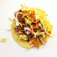 citrus garlic marinated pork, spicy curtido, salsa roja #tacotuesday
