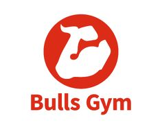 #logo #logos muscular arm with weightlifting strap looks like a bull's head.