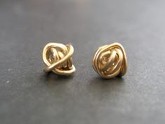 Tiny Teeny Tornado Posts 14K gold filled wire stud earrings