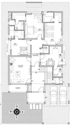 Project House Location Venus society lahore Plot Size 1 kanal Architecture Design Firm Architexture Studio View more projects from firm FLOOR PLANS 40x60 House Plans, House Plans One Story, Family House Plans, Duplex House Design, Modern House Design, 10 Marla House Plan, Indian House Plans, Indian Home Design, Beautiful House Plans