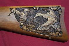 Gunstock carving
