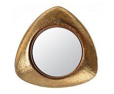 Espejo de pared Silviane, dorado - 39x39 cm