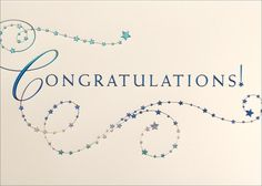 Congratulations in Stars - Congratulations Cards from CardsDirect