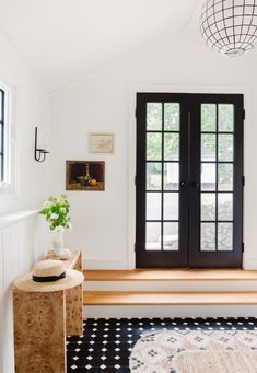 A light and bright entryway idea. Bathroom Renovations, Home Renovation, Connecticut, Kitchen Builder, Shaker Doors, Dark House, Foyer Design, Carriage House, Kitchen Flooring