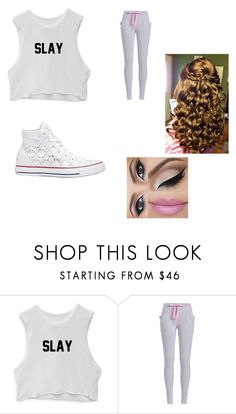 """""""Slay"""" by kystewart ❤ liked on Polyvore featuring Converse"""