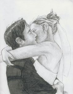 pencil sketches of people kissing wedding kiss by lezzybum coll - people kissing sketch Romantic Couple Pencil Sketches, Cute Couple Drawings, Couple Sketch, Love Drawings, Drawing Sketches, Art Drawings, Drawings Of Couples, Croquis Couple, Pencil Drawings Tumblr