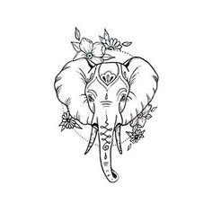 Waterproof Temporary Fake Tattoo Stickers Cute Elephant Animals Cartoon Design Body Art Make Up Tools Fake Tattoos, Trendy Tattoos, Body Art Tattoos, New Tattoos, Small Tattoos, Girl Tattoos, Tatoos, Tatoo Elephant, Elephant Tattoo Design