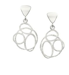 """Jorge Revilla """"Ovalos"""" matte sterling silver earrings"""