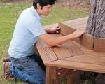 Backyard round bench DIY. If you have really old trees in your backyard, you'll definitely notice this idea. - Modern Interior and Decor Ideas
