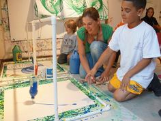 Pollock inspired pendulum painting- with detailed instructions on building the pendulum.