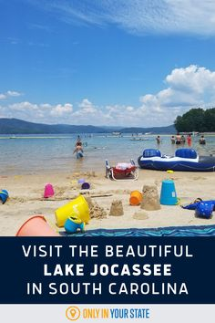 Beautiful Lake Jocassee in South Carolina is paradise for nature lovers, especially in the summer. Enjoy swimming in the clear blue waterfall, waterfalls cascading into the lake, and more! South Carolina Attractions, Best Bucket List, Hidden Beach, Swimming Holes, Boat Tours, Summer Travel, Natural Wonders, Vacation Spots, Waterfalls
