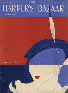 [1932] ERTÉ (1892-1990) 1º éxodo de Aportaciones europeas. 1924 a 1937 Diseña las portadas e ilustraciones de HARPER'S BAZAAR. _Principal representante del Art Decó en EEUU. _Dibujo estilizado. _Decoraciones exóticas.