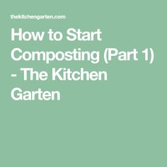 Ever wondered how to start composting? Maybe you've just been overwhelmed at the thought. Composting is as easy as pie! How To Start Composting, Composting At Home, Gardening Tips, Thoughts, Health, Kitchen, Gardens, Lawn And Garden, Cooking