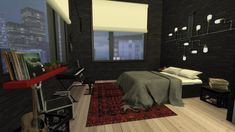 BLACK & RED BEDROOM