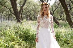 BoHo chic wedding dress by Limor Rosen (at alta moda bridal)