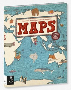 """""""We predict your kid's next favorite book will be an atlas. Really. Maps, by Polish artists Aleksandra Mizielińska and Daniel Mizieliński, is a lavish collection of 52 maps of countries from every continent around the globe. But you're not just getting topography and political markers with this book. The pages are filled with winsome illustrations of cultural icons from that region."""""""