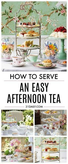 Everything you need to know about serving an afternoon tea. From decor to the order of party food. From which tea to serve, to tea party etiquette, and even how to host a no-frills tea. How to Serve an Easy Afternoon Tea Afternoon Tea Recipes, Afternoon Tea Parties, Afternoon Tea Party Decorations, Afternoon Tea Wedding, Sandwiches For Afternoon Tea, Afternoon Tea Ideas Easy, Garden Tea Parties, High Tea Decorations, English Tea Sandwiches