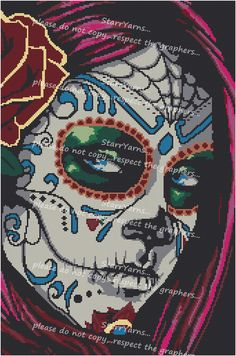 Sugar Skull Beauty Crochet Graph Pattern
