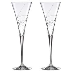 Shop the Lenox Adorn Crystal Toasting Flute Set and other Glassware at Kathy Kuo Home Cocktail Glassware, Flute Glasses, Window Signs, Candle Diffuser, Toasting Flutes, Mirror Art, Lighting Sale, Vineyard Wedding, Crystals