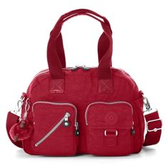 Defea Medium Handbag - Kipling in Claret #Red
