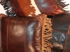leather pillow, western pillow