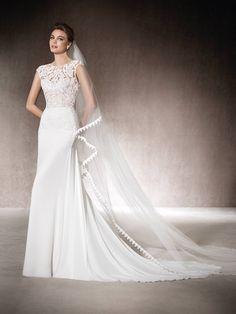Vestido de novia evase Malva