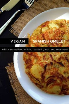 Simple and flavourful vegan Spanish omelet or tortilla de patatas. Great for a…