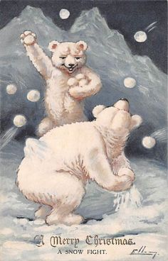 2 POLAR BEARS HAVE SNOWBALL FIGHT, CHRISTMAS GREETING, FAULKNER PUB c. 1904-14 FOR SALE • $34.99 • See Photos! Money Back Guarantee. CONDITION: Very Good.See scans of front and back for all details.Payment expected in 3 days. VISIT OUR EBAY STORE http://stores.ebay.com/THE-CARTOPHILIANS Check out our eBay for many fine postcards and ephemera 361452142400