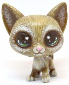 Littlest Pet Shop 97 Sultanna Siam Cat OOAK Custom Hand Painted Lion Cougar #Hasbro