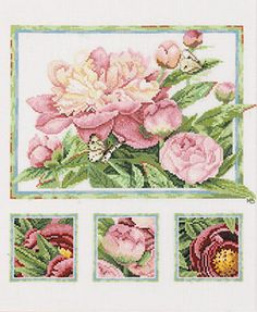 Image detail for -cross stitch lanarte marjolein bastin pink peonies Cross Stitch Gallery, Cross Stitch Love, Cross Stitch Needles, Cross Stitch Samplers, Cross Stitch Flowers, Cross Stitch Charts, Cross Stitch Designs, Cross Stitching, Cross Stitch Embroidery