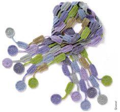 Maggie's Crochet · Scarves to Crochet Knitted Shawls, Crochet Scarves, Crochet Yarn, Crochet Clothes, Crochet Stitches, Crochet Shawl Diagram, Freeform Crochet, Crochet Granny, Crochet Patterns For Beginners