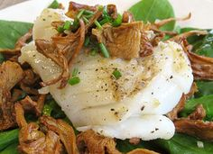 Pan-Roasted Cod with Sauteed Chanterelle Mushrooms, sub animal fat for butter and use white wine vinegar