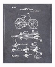 Loving this Driving Gear for Bicycles 1893 Art Print on #zulily! #zulilyfinds