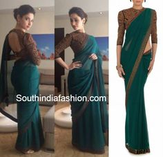 Tamanna in Tarun Tahiliani Saree ~ Celebrity Sarees, Designer Sarees, Bridal Sarees, Latest Blouse Designs 2014