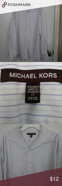 Michael kors mens dress shirt size 17 34/35 Michael kors mens dress shirt size 17 35/36. Needs to be dry cleaned!!!! Michael Kors Shirts Dress Shirts