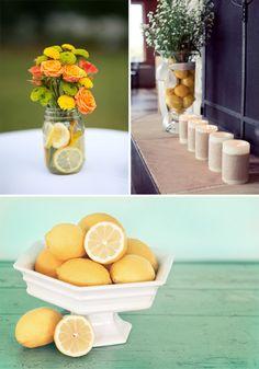 lemons fresh zesty welcome summer Cape Cod Wedding, Our Wedding, Yellow Centerpieces, Lemon Flowers, Welcome Summer, Wedding Inspiration, Wedding Ideas, Cafe Design, Mason Jars