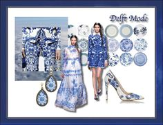 #moodboard #fashion #blue and white #china #delicate #style #inspiration #trend