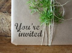 Wrapped Invitation (framed picture, etc.)