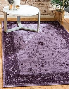 Unique Loom La Jolla Collection Purple 5 x 8 Area Rug. Gorgeous purple area rugs for the home or office. #purple #purplerugs #arearugs #rugs #funkthishouse