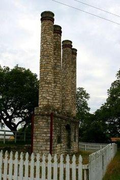 Old Baylor Ruins, columns in Old Baylor Park, Independence Texas
