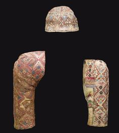 circa 14th c. - Mamluk - cap & two sleeves - embroidered and patchwork
